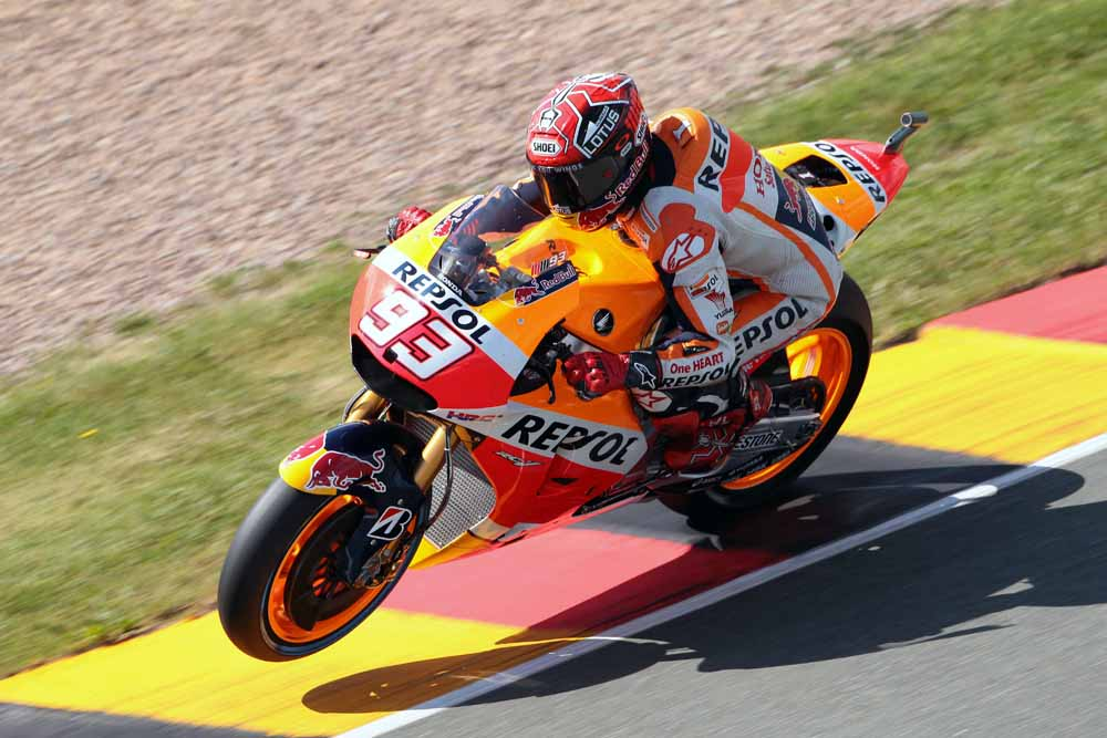 Mr. Marquez fast in Germany. Has the tide been reversed? We shall see.