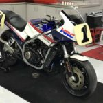 When they announced their new MotoA team, American Honda had an ex-Fred Merkel VF750 Superbike on display as well.