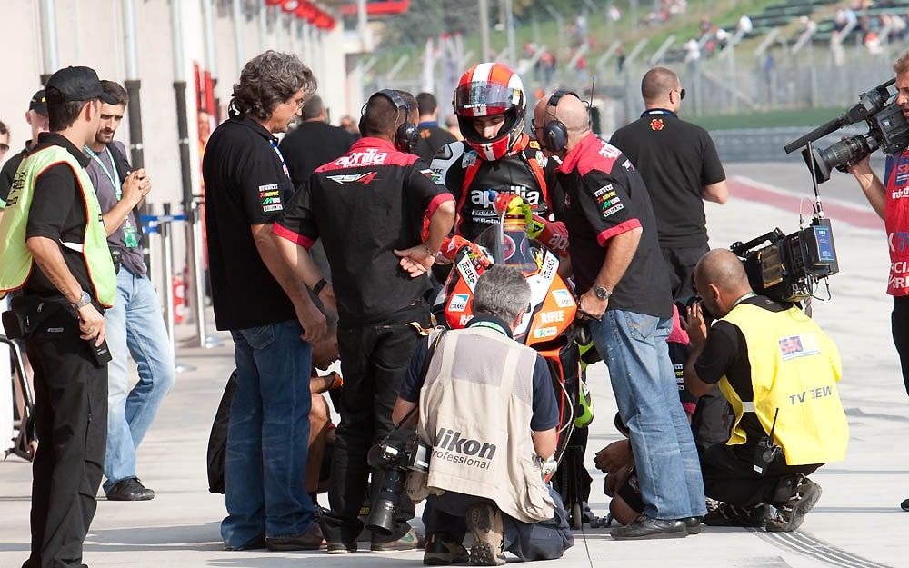 It's been six years since racing lost one of its greatest. Here Sic's dad watches him learn to ride a Superbike.