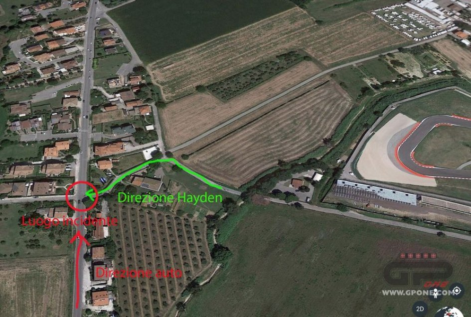 Nicky Hayden's Bicycle Accident Location