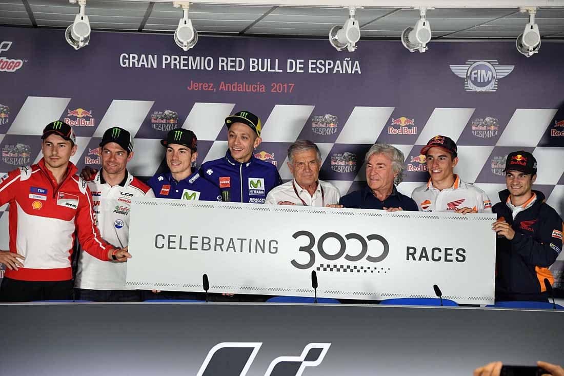 Nieto has fans in high places with riders like Pedrosa, Lorenzo, Rossi and the late Barry Sheene rating him highly. Here Nieto stands with Ago and crew.