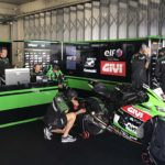 Ant West riding for the Pusset Kawasaki team this weekend. Note Andrew Pitt as crewchief.