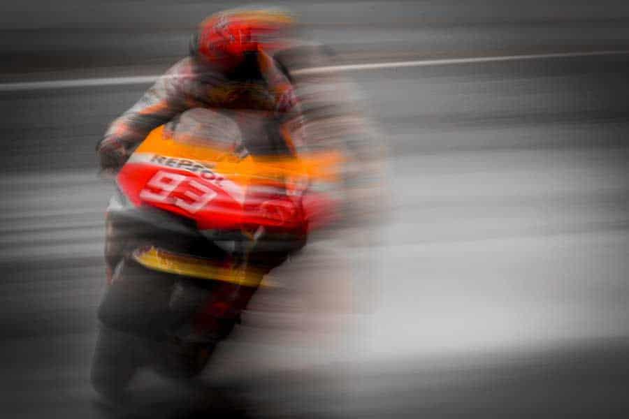 Marc Marquez: fast until he crashes, faster after he crashes.