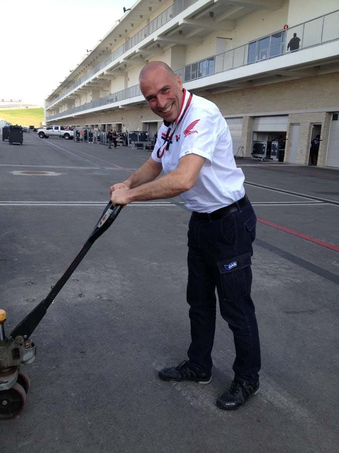 Suppo helps load the crates at CoTA in 2013.