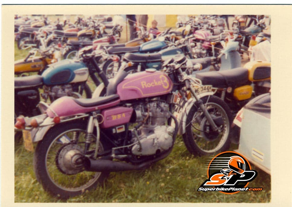 Winner of the 'rode it here' at this event was a custom BSA Rocket 3.