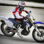Hayden rode a modified Yamaha dirt bike and looks as if he put on quite a display.