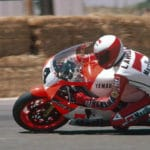 World champion Eddie Lawson on the YZR500, tuned by Kel Carruthers.