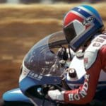 Before he was a three-time Superbike champion: Doug Chandler on the SuperTrapp RS500 F1 bike.
