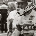 Steph Mertens on the grid at Brainerd WSBK. Sal from Ghost Motorcycles behind him.