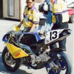 Before he wrenched four-strokes for Nicky Hayden, Yamaha and Pat Clark Racing, a young Jefferson Burks (pictured on the right) worked on two-strokes, including Aprilia's AMA 250GP racer.