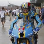 Then Yoshimura Suzuki rider Ben Spies was on a Wild Card ride at Indy for the Rizla Suzuki team.