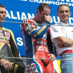 More images from the '04 WSBK season. Here Regis Laconi is overcome with emotion after suffering the 'do your job or walk the plank' vibe from Domenicali.