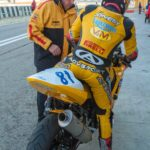 The late Craig Jones on the Triumph Supersport bike at Imola.