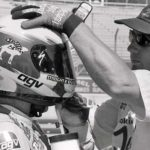 Mechanic Bob Weindorf stops mid-helmet polish after realizing why Crevier's nick name is 'Fuzz'.