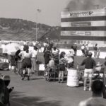 What?! Straw is flammable?! Who knew?! A track fire breaks out at Sears Point in the '90s.