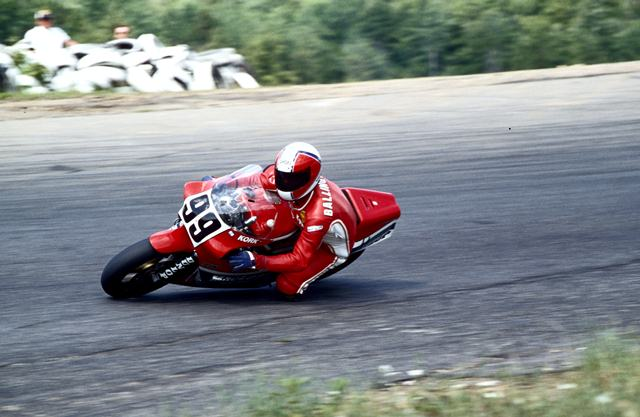 """Korky"" Ballington on an RS500 at Loudon after his GP career ended."