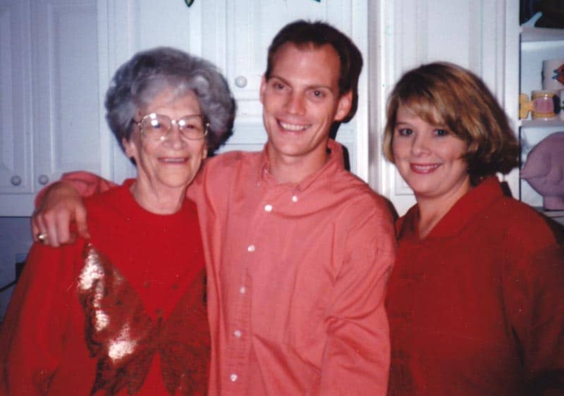 Scott and Suzi Russell with their Grandmother Janice, 1990s.