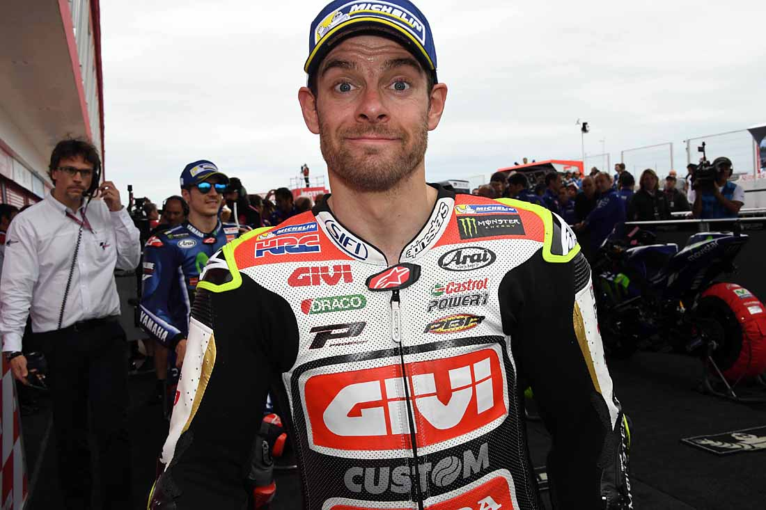 "Crutchlow suffered a broken leg/ankle in Australia. He admits the slow healing injury and hospital were ""dark days""."
