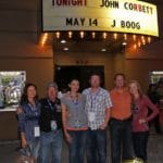 John Corbett and his band played one night. Before the show the Roberts men posed with the women who are currently putting up with their crap.