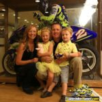 Roberts Junior and family pose with his 2000 GP championship bike. He removed the ECU from the bike before he put it in his dad's museum 'Because I know my dad ...'