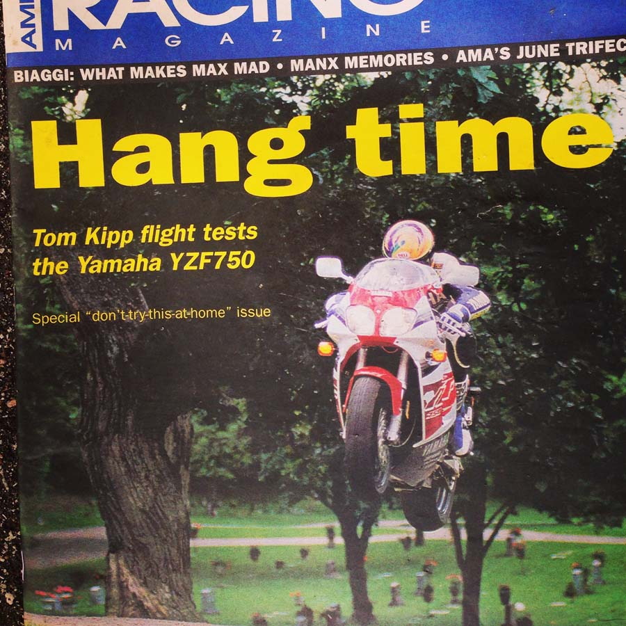 From the 'seemed like a great idea at the time' file, Tom Kipp jumps the YZF for a print mag.