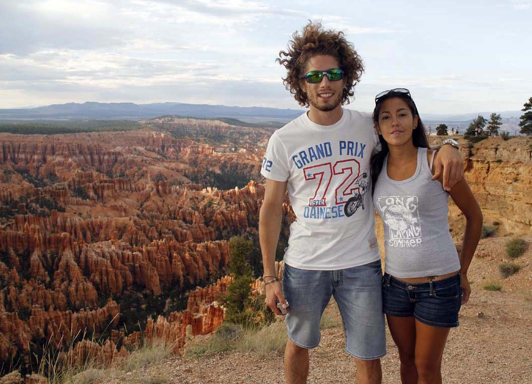 With his digital camera in hand, Sic poses for a photo with his girlfriend Kate at Bryce Canyon.