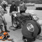 1992 125cc world champion Alessandro Gramigni was a surprise entry on the Ferracci Ducati at Elkhart. He debuted with a masterful win in the rain leaving the paddock stunned.