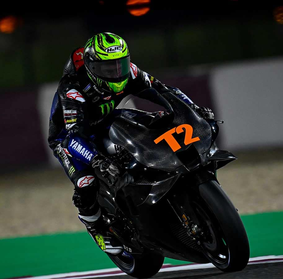 """Calvin Crutchlow is back on """"the playstation bike"""" which is what he calls the M1."""