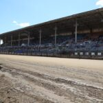 The legendary Springfield Mile grandstands. Yes, they are widely believed to be haunted.