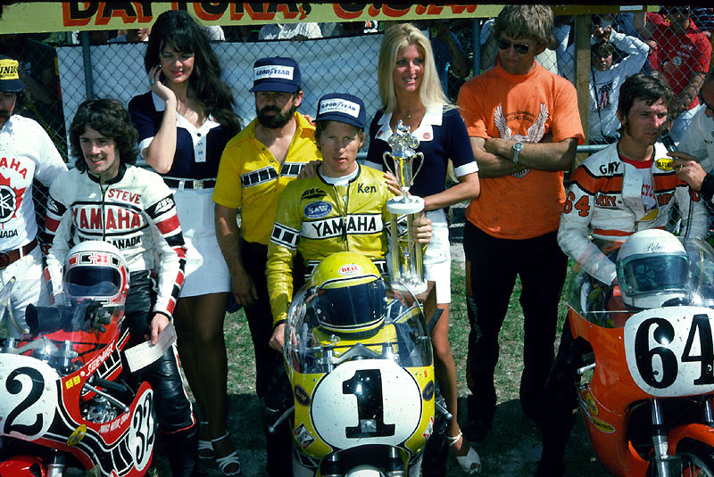 Baker on Roberts: He was the first world champion--in the 500cc class.